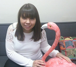 Aileen and Flamingo